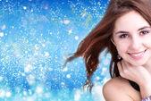 Beautiful Woman.Christmas — Stock fotografie