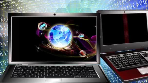 Science genetics research.Computer cloning people future.Animation — Vidéo