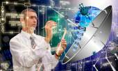 Science.Cosmos engineering connection technology — Stock Photo