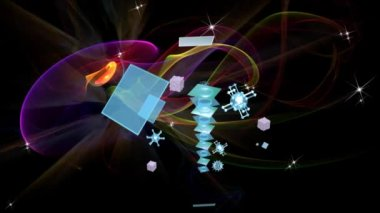 Cosmic technology.Science — Stock Video