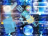 Cosmic digital connection technology.Communication — Stock Photo
