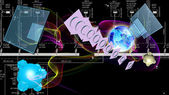Globalization cosmos communication.Science — Stock Photo