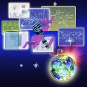 Cosmos technology.High speed internet.Connection — Stok fotoğraf