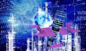 Engineering cosmic technology — Stock Photo