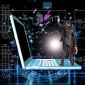 Creation engineering computers technology — Stock Photo