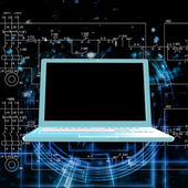 Engineering computers technologies.Connection — Stock Photo