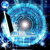 Engineering computers technologies.Creation high speed Internet — Stock Photo
