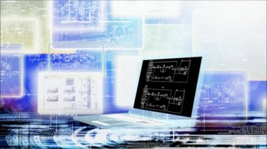 Industrial engineering computer designing.Animation — Stock Video