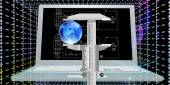 Engineering computing designing connection.High Speed Internet — Stock Photo