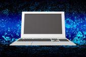Innovative laptop.Internet.Connection technology — Стоковое фото