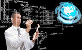 Engineering designing communications computer technologies.Industrial engineering connection — Stock Photo