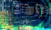 Engineering designing communications computer technologies.Industrial engineering connection — Foto Stock