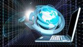 Ontwerpen van communicatietechnologieën computer engineering. Industrial engineering verbinding — Stockfoto
