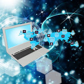 Internet technology concept of global business or social network connection — Stock Photo