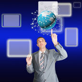 Internet technology concept of global business — Stock Photo