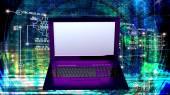 Engineering computer Internet technology.Generation — Stock Photo
