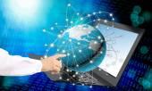 Innovative high modern computer laptop.New computer technology — Stockfoto