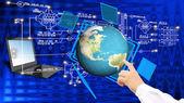 Globalization connection Internet technology.Generation — Stock Photo