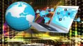 Internet technology.Globalization — Stock Photo