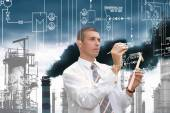 Engineering industrial technology — Stock Photo