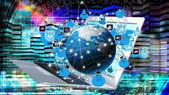 Modern innovation compiting technology.Globalization — Stock Photo