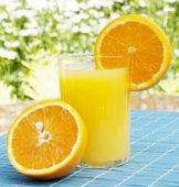 Fresh fruit orange juice — Stock Photo