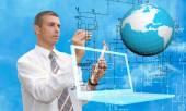 Engineering computer designing.Engineer — Stock Photo