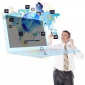 The newest Internet technology — Stock Photo