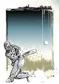 Kriket afiş arka plan — Stok Vektör