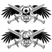 Soccer and basketball shield emblem  — Stockvector