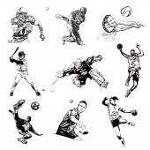 Sports vector illustration — Stock Vector