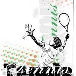 Tennis vector poster background — Stock Vector #56637873