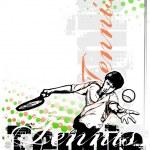 Tennis vector poster background — Stock Vector #56637875
