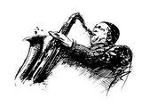 Jazzman illustration — Stock Vector