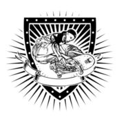 Skateboard shield — Stock Vector