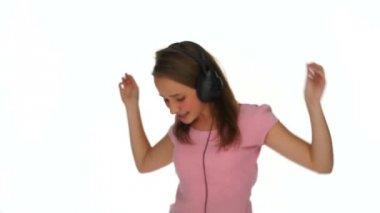 Young girl dancing or jiving — Stock Video