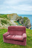 Sofa at the top of the hill , uk , dorset, — Stock Photo