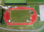 Aerial View of Athletic Running Track — Stock Photo