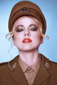 Sensual portrait of an elegant army recruit — Stock fotografie