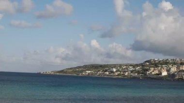 Sea and Rocks Landscape malta timelapse — Stock Video