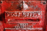 Close up Metal Post Office Signage — Stock Photo