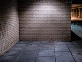 Illuminated Street Alcove Corner at Night — Stock Photo