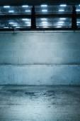Garaj park yeri dış duvarına çimento — Stok fotoğraf