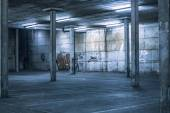 Interior of an undercover parking area — Stock Photo