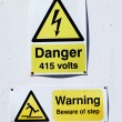 High voltage warning for 415 volts — Stock Photo #72422415
