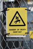 High voltage warning sign — Stock Photo
