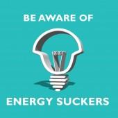 Energy sucker — Stock Photo