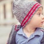 Happy little baby boy wearing hat — Stock Photo #75700151