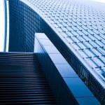 Contemporary glass building skyscrapers — Stock Photo #76647781