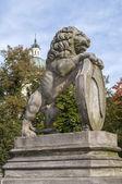 Rampant lion. — Stock Photo